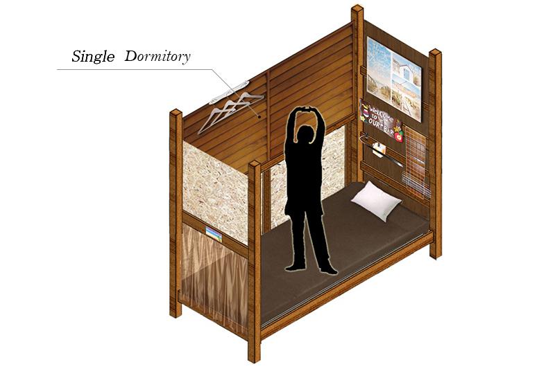個室型ドミトリータイプイメージ